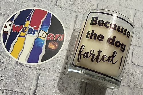 Because the dog farted vanilla candle