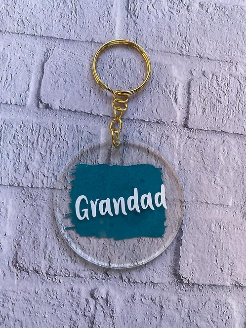 Dad, Daddy or Grandad key ring