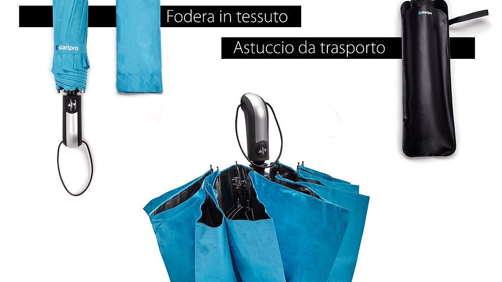 Ombrello pieghevole portatile antivento con chiusura e apertura automatica