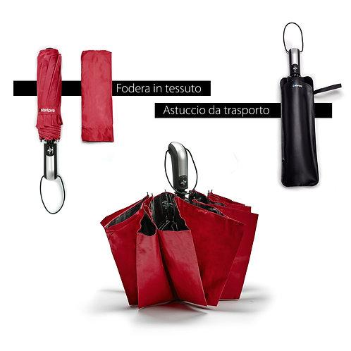 Ombrello pieghevole portatile antivento con chiusura e apertura automatica ROSA