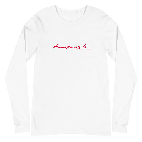 Everything Is Unisex Long Sleeve Tee Red