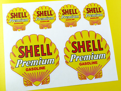 SHELL PREMIUM Classic Vintage retro stickers decals Rally Race Track car bike