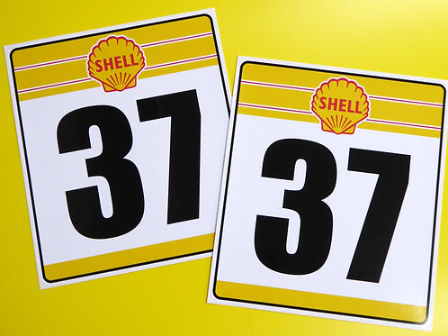 VINTAGE Classic Car 'SHELL' RACE NUMBERS ideal for MINI COOPER
