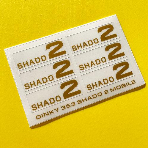 DINKY No. 353 U.F.O SHADO 2 MOBILE GOLD sticker decal reproductions