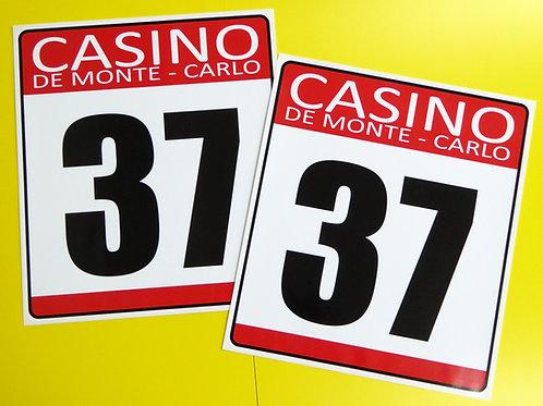 VINTAGE retro Classic Car 'CASINO DE MONTE CARLO' RACE NUMBERS MINI COOPER