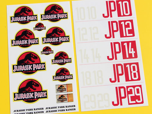RC Rock Crawler 'JURASSIC PARK' 10th 1/10 scale stickers decals