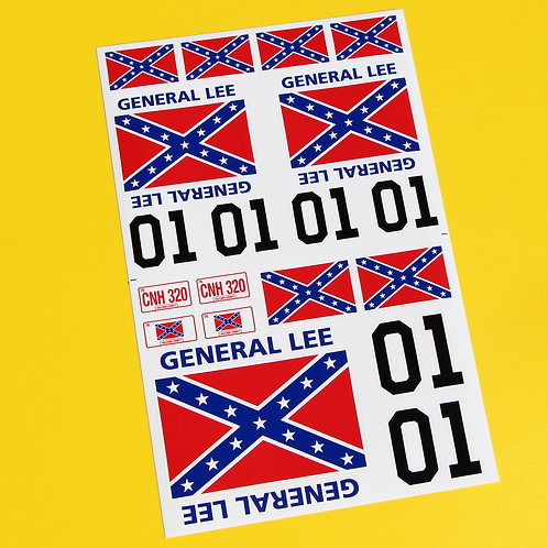 GENERAL LEE 10th scale RC car stickers