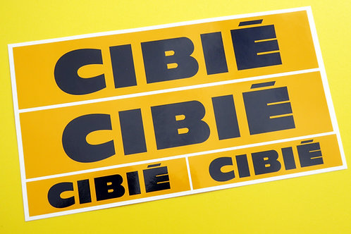 Classic Car Rally/Race CIBIE sticker set x4 GLOSS LAMINATED ESCORT CITROEN MINI
