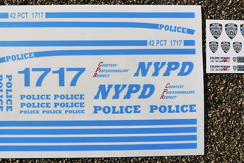 NYPD 10th scale RC stickers