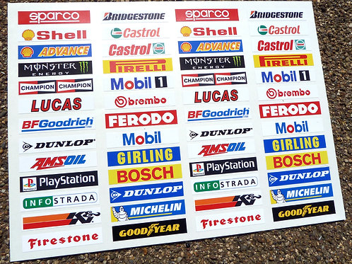 SLOT CAR SCALEXTRIC 1/32nd Barrier stickers decals x52!