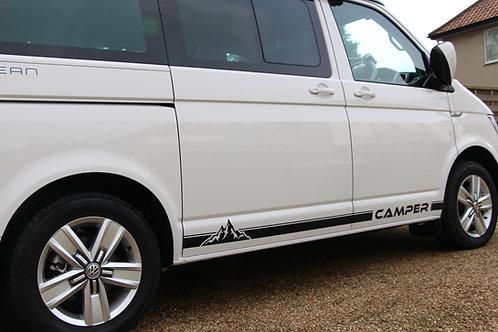 Campervan idea for VW T3 T4, T5 T6 MOUNTAIN van STRIPES stickers Motorhome