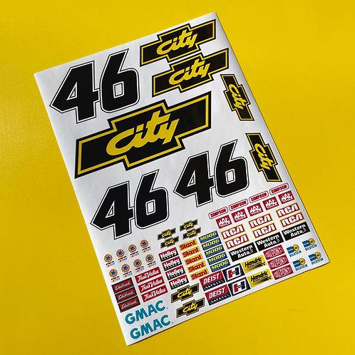 RC Nascar 'Days Of Thunder' CITY Decals Stickers Tamiya Xray