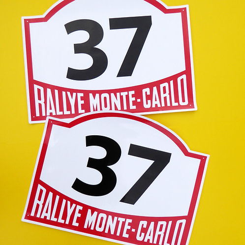 VINTAGE retro Classic Car MONTE CARLO RALLY RACE NUMBERS ideal for MINI COOPER