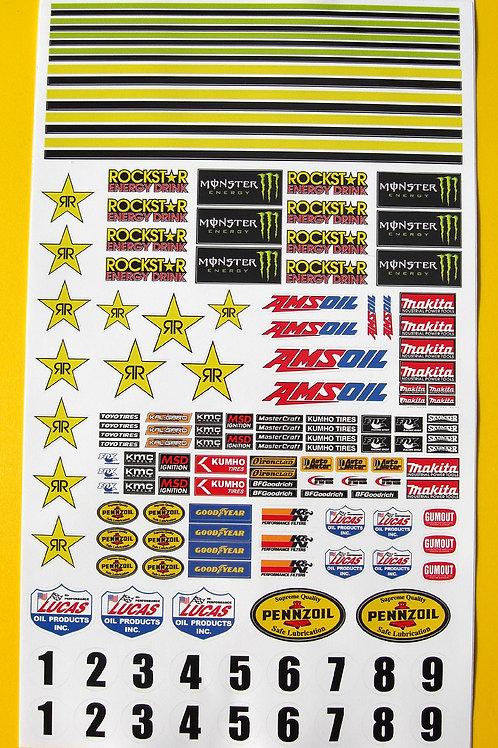 SLOT CAR SCALEXTRIC 1/32nd SCX CORR sponsor logo stickers decals