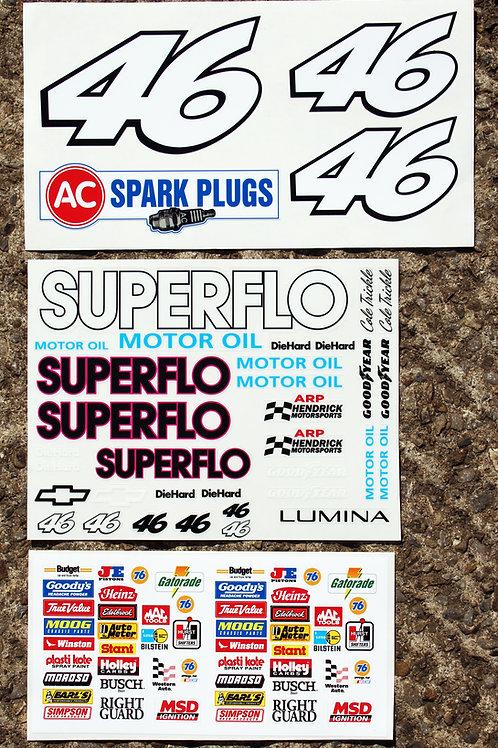 RC Nascar SUPERFLO 'Days Of Thunder' Decals Stickers Tamiya Xray TC5 Kyosho