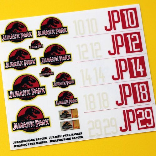RC Rock Crawler 'JURASSIC PARK' 18th 1/18 scale stickers decals