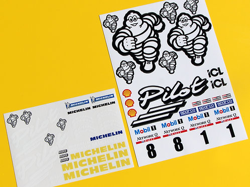 RC 10th 1:10 scale Michelin Pilot RALLY drift stickers decals Focus Escort etc.