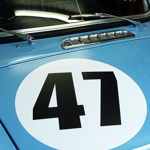 CLASSIC VINTAGE CAR RACE RALLY NUMBERS 40cm PAIR MG MGA MGB TRIUMPH ASTON RILEY
