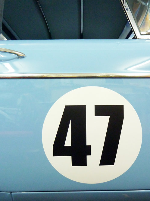 CLASSIC VINTAGE CAR RACE RALLY NUMBERS 30cm PAIR MG MGA MGB TRIUMPH ASTON RILEY