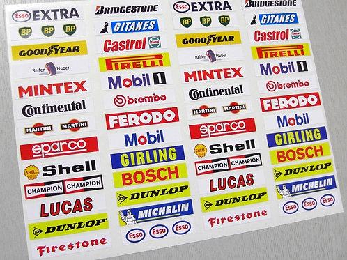 SLOT CAR SCALEXTRIC vintage retro Barrier stickers x52!