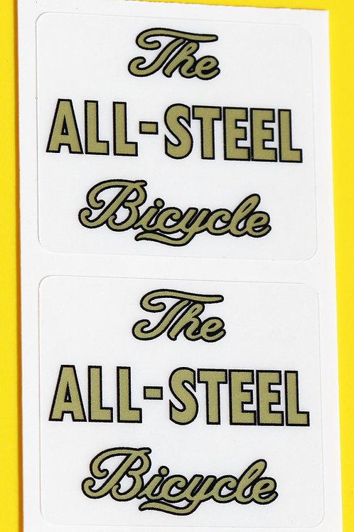 Raleigh 1950's style 'The ALL-STEEL Bicycle' Stickers decals SPORTS TOURIST