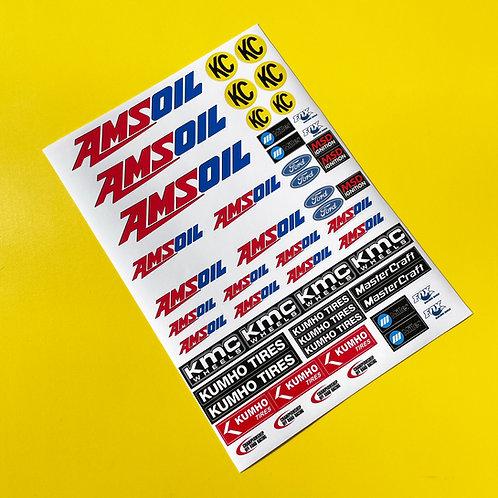 RC CORR Stickers AMSOIL Decals Associated SC10 Traxxas Slash