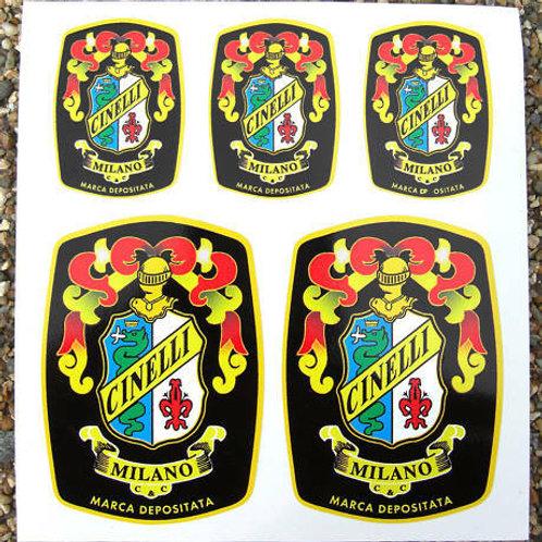 Cinelli Crest Vintage Cycle Bike Frame Decals Stickers
