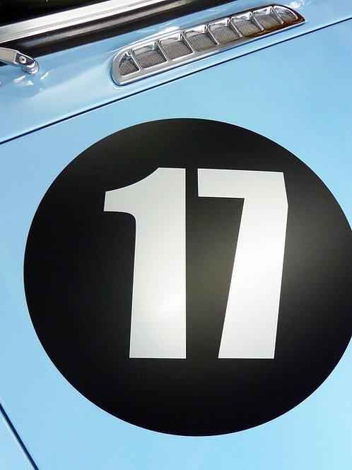 CLASSIC VINTAGE CAR RACE RALLY NUMBERS 40cm PAIR MG MGA MGB TRIUMPH BLACK DISC