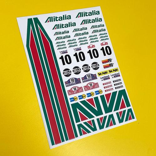 RC 10th scale Alitalia Stickers Decals Mardave Kyosho Tamiya HPI