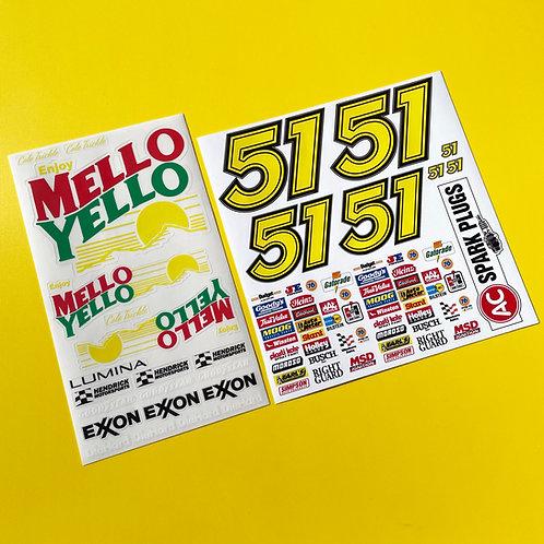 RC Nascar 'Days Of Thunder' MELLO YELLO Decals Stickers