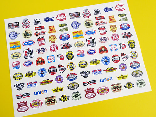 RC 10th SCALE HOT ROD DRAGSTER RAT ROD stickers decals Tamiya HPI Maverick Losi