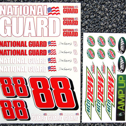 RC Nascar Dale Earnhardt Jr No88 1/10th decals stickers