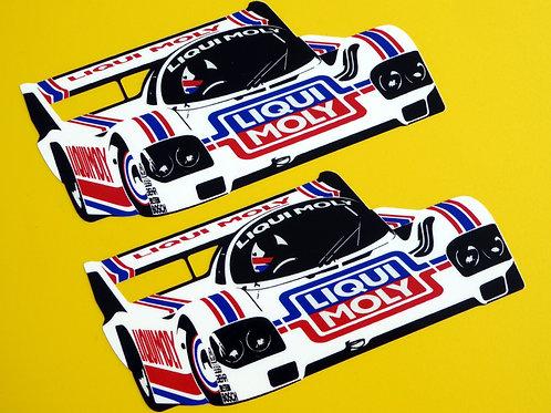GROUP C 'LIQUI MOLY' Le Mans Porsche 956 962 retro vintage stickers decals