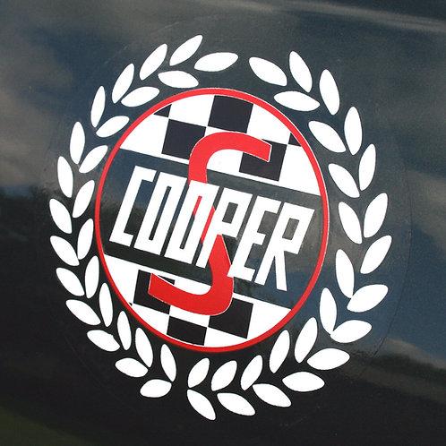 Mini Cooper S Classic WHITE 'Laurel' side decals stickers