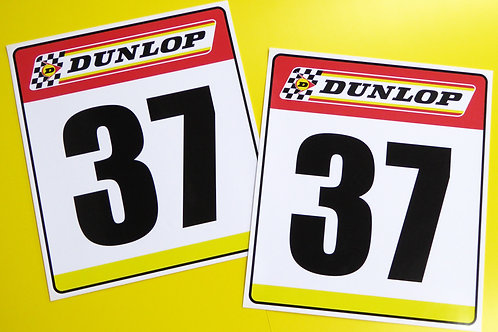 VINTAGE retro Classic Car 'DUNLOP' RACE NUMBERS ideal for MINI COOPER