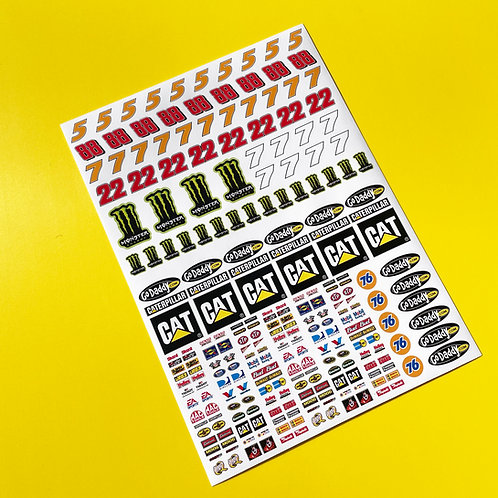 SLOT CAR SCALEXTRIC 1/32nd scale Nascar stickers decals