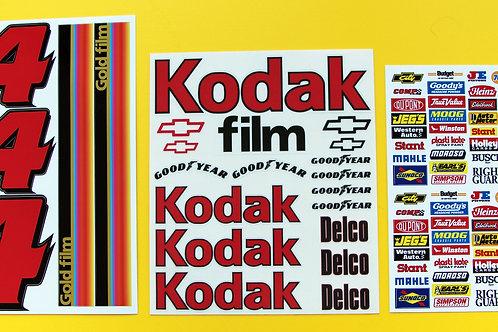 RC Nascar 'KODAK' Decals Stickers Tamiya Xray TC5 Kyosho