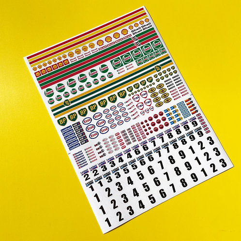 SLOT CAR SCALEXTRIC 1/32nd scale vintage classic Rally stickers decals