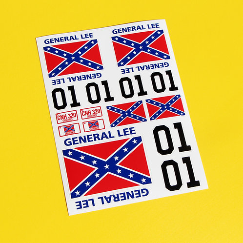 RC GENERAL LEE stickers 18th scale
