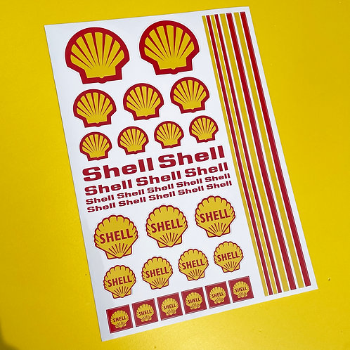 RC SHELL 10th scale Stickers Decals Mardave Losi Tamiya HPI Kyosho
