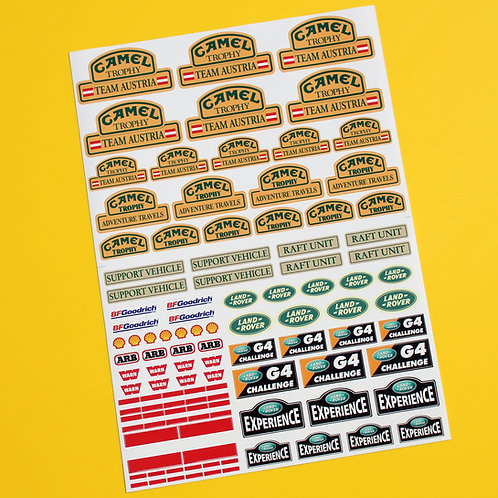 RC Rock Crawler 'CAMEL TROPHY TEAM AUSTRIA 10th scale stickers decals RC4WD D90
