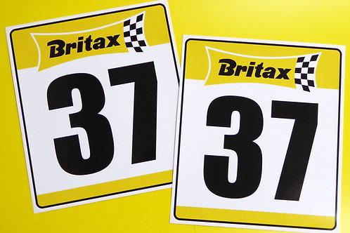VINTAGE retro Classic Car 'BRITAX' RACE NUMBERS ideal for MINI COOPER