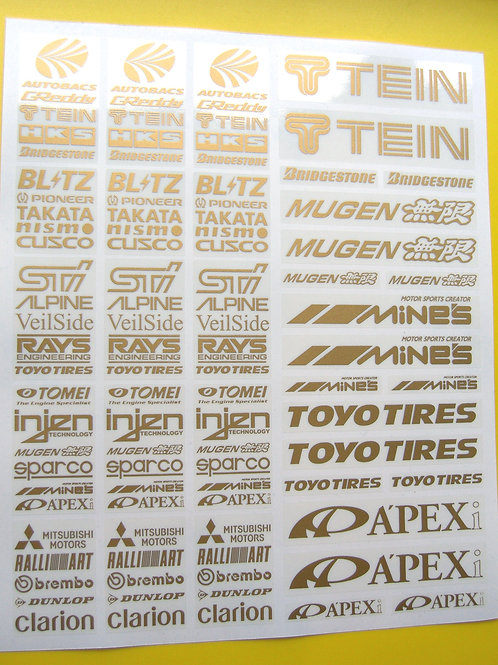 RC Drift GOLD stickers decals HPI Losi Drift-R Kyosho