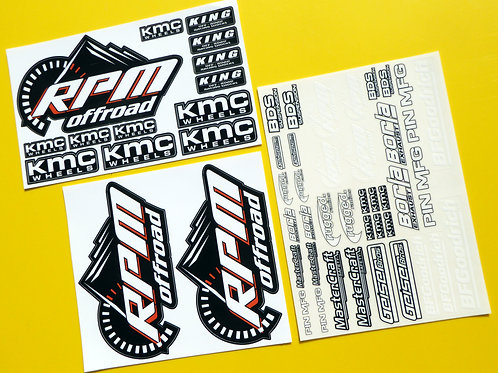 RC UNLIMITED DESERT RACER large scale stickers decals ideal for TRAXXAS UDR