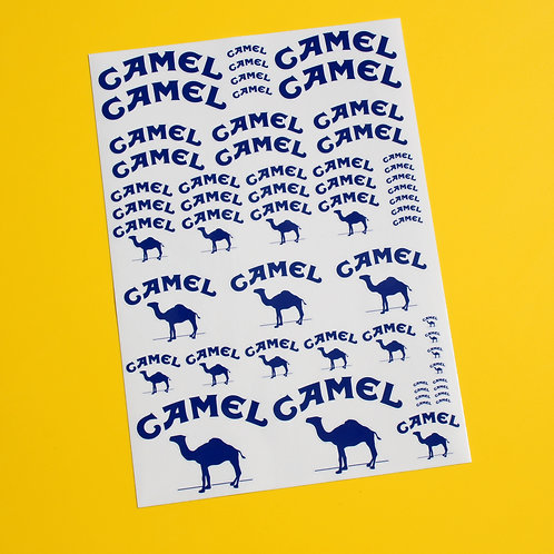RC 10th 1/10 scale CAMEL 4x4 sponsor stickers decals RALLY F1 ROCK CRAWLER DRIFT