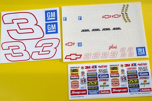 RC Nascar 'GOODWRENCH' Earnhardt 3 stickers decals Tamiya Xray TC5 Kyosho