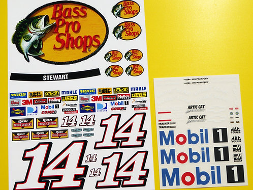 RC Nascar 'BASS PRO SHOPS' STEWART style Decals Stickers Tamiya Xray TC5 Kyosho