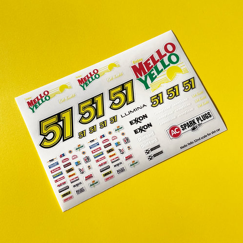 SLOT CAR SCALEXTRIC 1/32nd 'Days of Thunder' stickers decals NASCAR