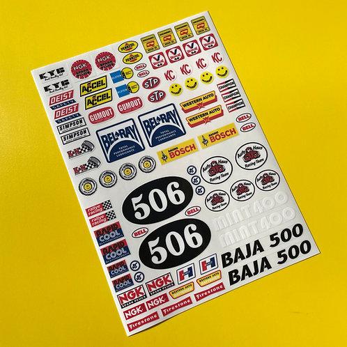RC Vintage Retro 80's classic Decals stickers logos Sand Scorcher SRB