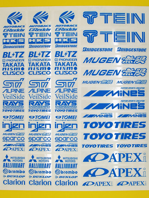 RC Drift 10th scale BRIGHT BLUE stickers decals HPI Losi Drift-R Kyosho